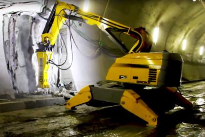 Demolizione nel settore delle gallerie – Lavoro svolto da Brokk!