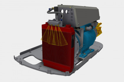 Forced draft cooling of machine