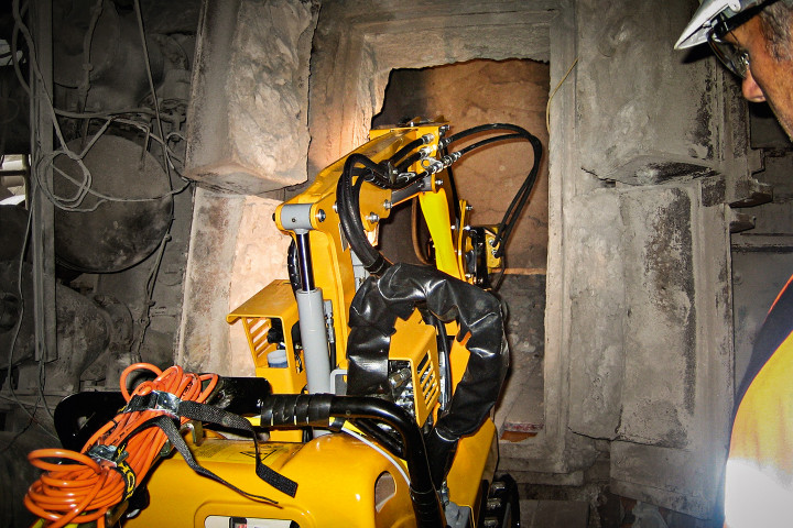 Brokk 50 entering cement kiln