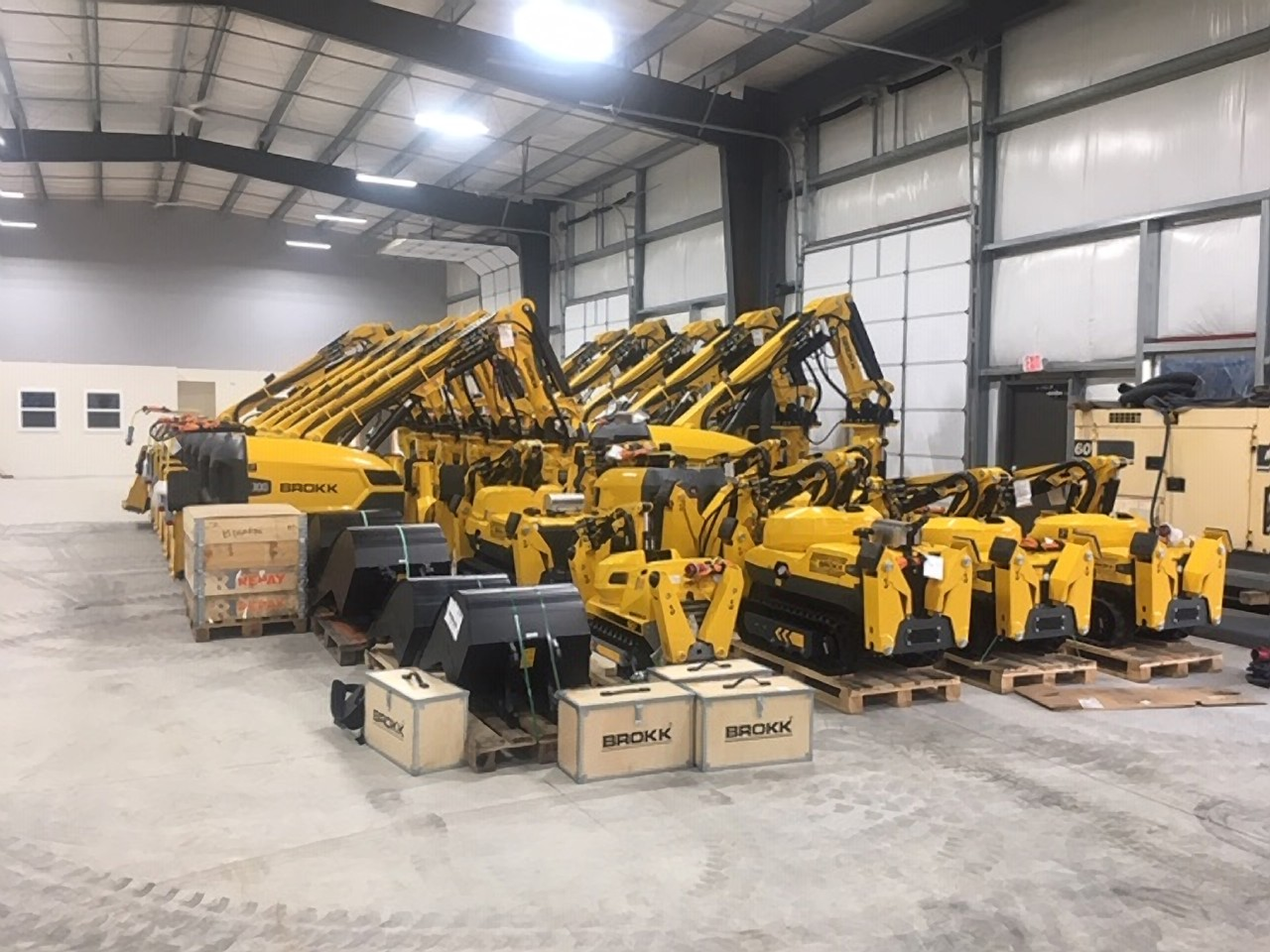 Brokk Inc. Relocates Stanhope Facility for Increased Inventory and Services