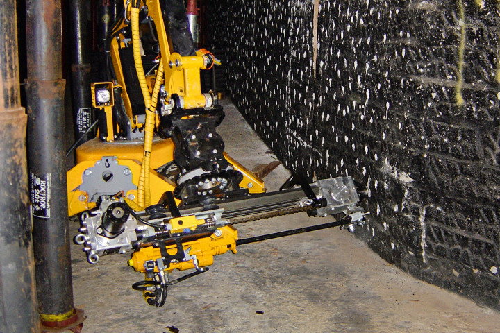Brokk 90 Demolition Robot with BSD80 drill in a mine