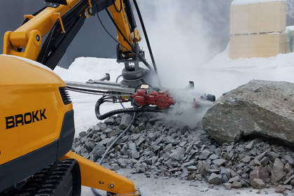 Brokk Introduces the MMB326 Hydraulic Drifter Rock Drill to Improve Productivity & Safety