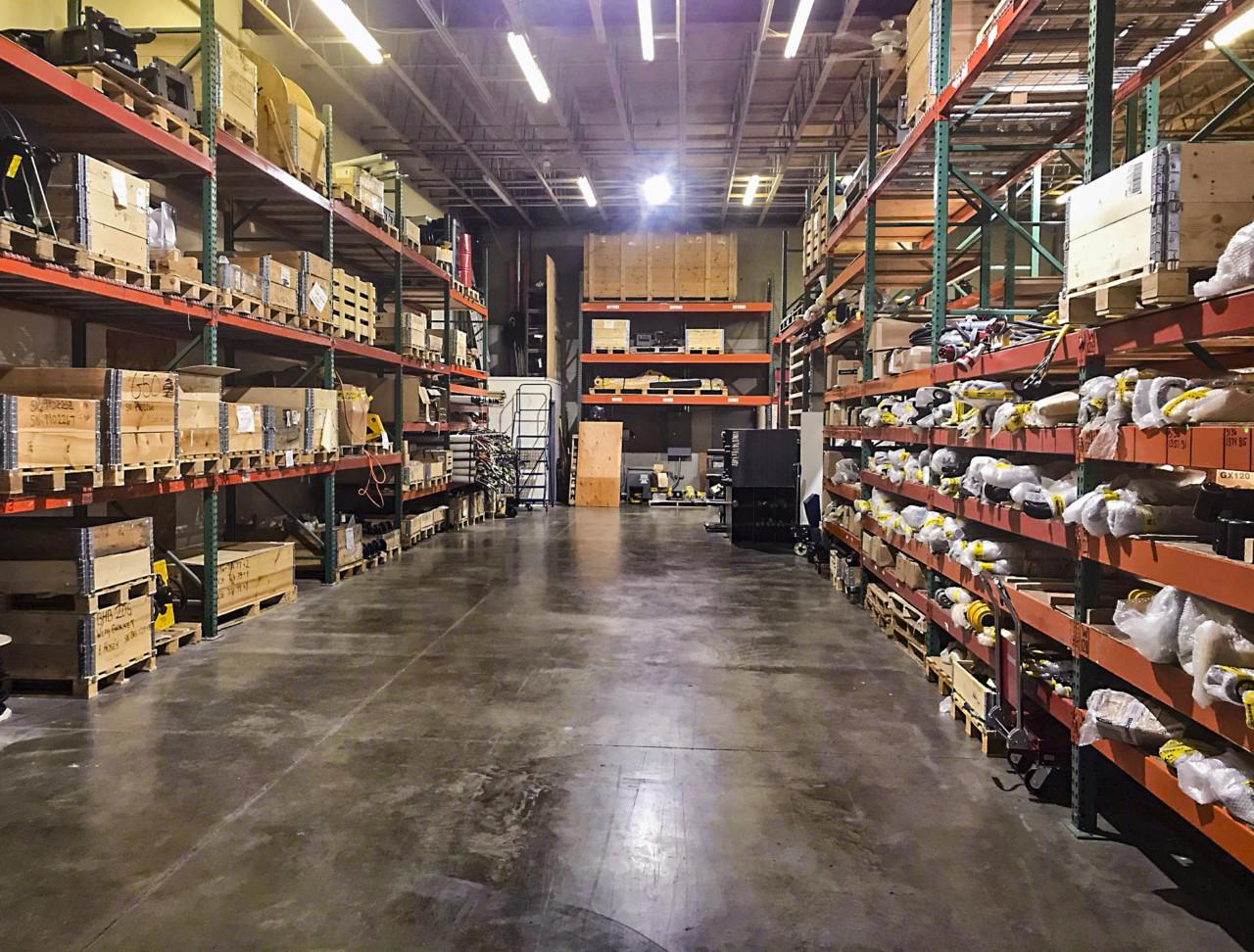 Brokk Upgrades Parts Warehouse to Ensure Fast Service