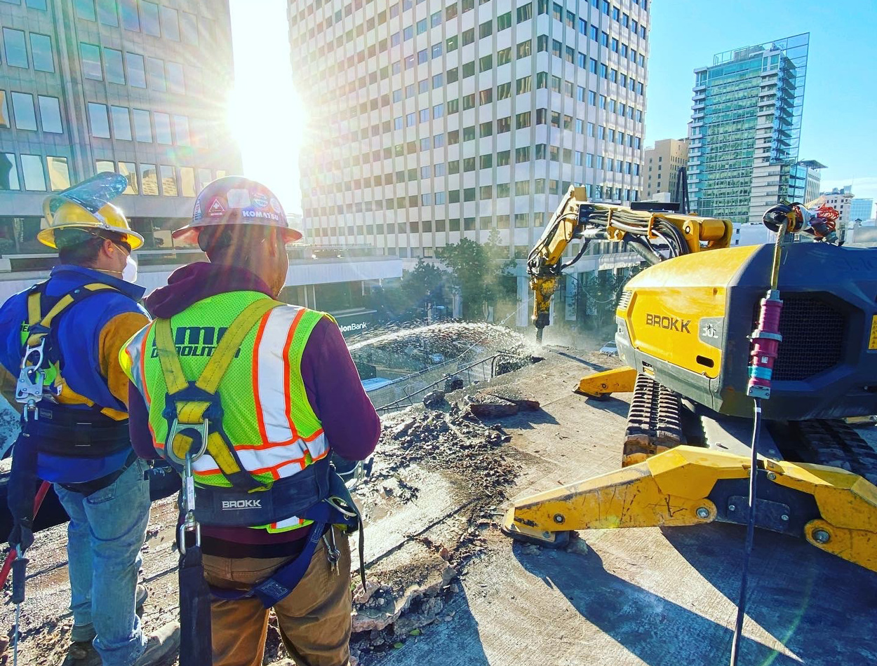 """AMG Partners with Brokk for """"Impossible"""" Demolition"""